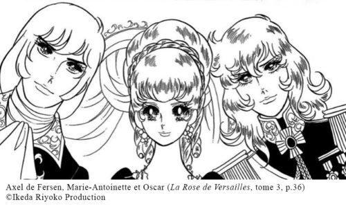 Axel de Fersen, Marie-Antoinette et Oscar (La Rose de Versailles, tome 3, p.36)